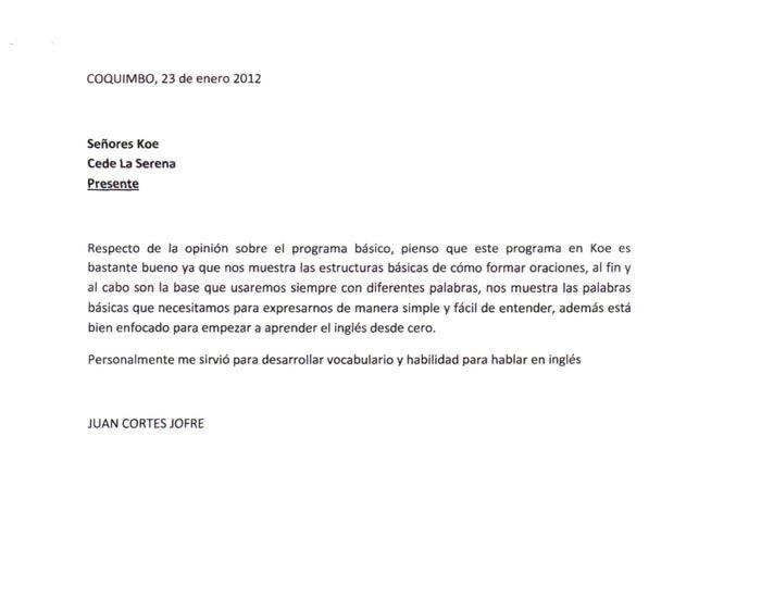 carta formal en ingles ejemplo pdf